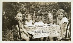 Antique Vintage Digital Image of Friends at a by ThriftyImages, $1.00