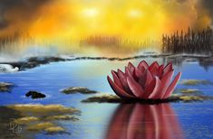 Hello to all friends, here is my new picture - I call it: A water lily in another galaxy Software: Krita Hardware: Huion 1060 plus All Friends, Another World, Water Lilies, New Pictures, Painting & Drawing, Lily, Hardware, Digital