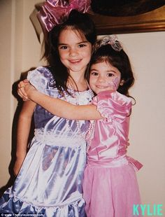 Her little sis: Kyle Jenner shared this photo on her website to wish her sister a happy bday
