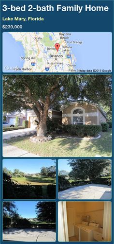 3-bed 2-bath Family Home in Lake Mary, Florida ►$239,000 #PropertyForSale #RealEstate #Florida http://florida-magic.com/properties/93284-family-home-for-sale-in-lake-mary-florida-with-3-bedroom-2-bathroom