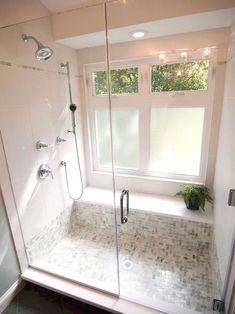 Trendy Bathroom Window In Shower Tile Ideas Ideas Master Bathroom Shower, Tiny House Bathroom, Bathroom Ideas, Bathroom Makeovers, Shower Bathroom, Diy Shower, Budget Bathroom, Bathroom Remodeling, Home Design