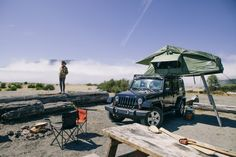 Nice tent set up for Jeep Wrangler