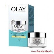 Olay White Radiance Light Perfecting Day Cream SPF 24 PA++ : 12 g. Travel Size Olay Regenerist, Layers Of Skin, Moisturiser, Travel Size Products, Whitening