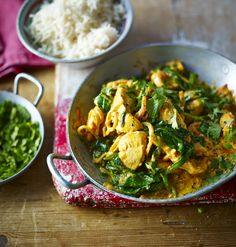 This fresh-tasting easy chicken curry is a delicious recipe to have up your sleeve when you're cooking for two