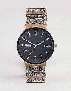 Skagen SKW6453 Ancher Watch with Canvas Strap