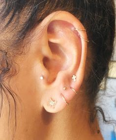 Constellations Ear Piercing Star Jewelry Trend | We love this unique piercing trend. #refinery29 http://www.refinery29.com/2016/10/126285/body-piercing-constellation-la-trend-photos