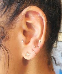 Ear Piercing Trend Constellations Pinterest Photos | We love this unique piercing trend. #refinery29 http://www.refinery29.uk/2016/10/126832/body-piercing-constellation-la-trend-photos