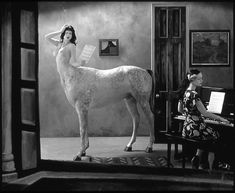 """Joel Peter Witkin, """"Night in a Small Town"""" - One of the few Witkin pieces that don't leave me fearing violation of Pinterest terms of use."""