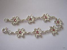 Handmade Sterling Silver Filigree Floral Bracelet by TrulyFiligree, $65.50