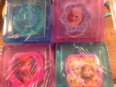 Four Disney Frozen Character Eraser Soap Bars by LnKDesigns on Etsy