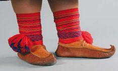 UTSJOKI region Sámi 'Sisna' shoes - UTSJOENSAAMELAISEN 'Sisna' kengät