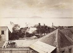 Alfred Burton - Lake Rotorua, after Eruption, June 1886 Auckland Art Gallery, New Zealand Lakes, Milford Sound, Historical Images, Local History, Louvre, June, Explore, Photographs