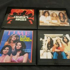 A new coaster set just added to our Etsy Shop today .... Charlie's Angels
