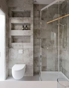Architecture bathroom - Project Kiev, Lesi Ukrainki Ave , design of apartment, modern style, photo Bathroom Design Luxury, Modern Bathroom Design, Modern Toilet Design, Small Bathroom Interior, Washroom Design, Shower Cubicles, Grey Bathrooms, Bathroom Inspiration, Bathroom Ideas