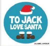 Get Personalized Christmas Xmas Blue Santa Hat Gift Present Stickers Labels only at Label Amour.