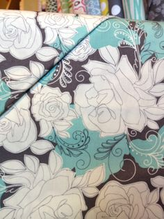 backing? #teal and grey quilt color scheme