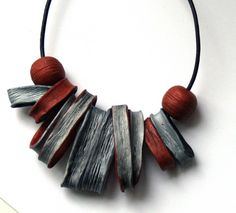 Polymer clay necklace by irina2107.