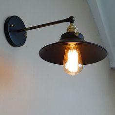 Industriële stijl staal wand Lamp stalen door LightwithShade