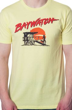 Baywatch Beach T-Shirt: Non 80s TV Shows Baywatch Shirt