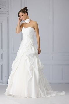 Trés Chic trouwjurk SN4075 white wedding dress witte trouwjurken trouwjurk bruidsjurk bruidsjurken www.weddingwonderland.nl