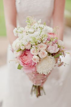 soft pink - Thistle Hill Mansion Wedding from Ivy Weddings
