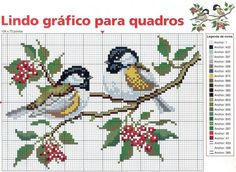 Cross-stitch birds ♡♡♡