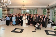 The wedding party at the Spa Hotel.