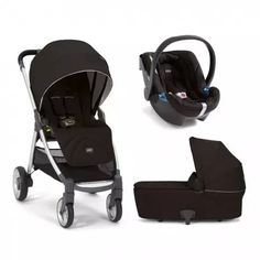 Mamas & Papas Armadillo Flip XT + Carrycot + Aton Car Seat - Black Jack