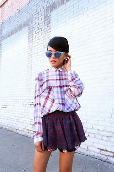 mad about plaid on plaid! #style