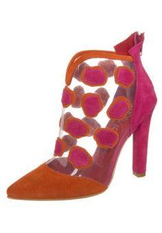 SEUSS - High Heel Stiefelette - claere orange fuchsia
