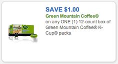 Green Mountain K-Cups Coupon: 33¢/K-Cup Today Only at Safeway, Tom Thumb, & Affiliates!!