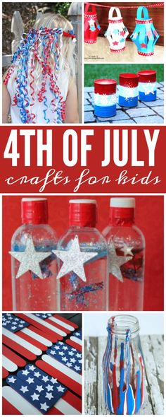 Here are some super fun of July Crafts for Kids for you to try with your family! I LOVE these Red, White, and Blue Activities! Here are some super fun of July Crafts for Kids for you to try with your family! I LOVE these red, white and blue activities! 4. Juli Party, 4th Of July Party, July 4th, Summer Crafts, Holiday Crafts, Fun Crafts, Arts And Crafts, Holiday Ideas, Party Crafts
