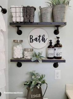 Small Bathroom Storage, Diy Bathroom Decor, Bathroom Design Small, Diy Home Decor, Bathroom Designs, Wall Storage, Storage Ideas, Storage Solutions, Bathroom Ideas