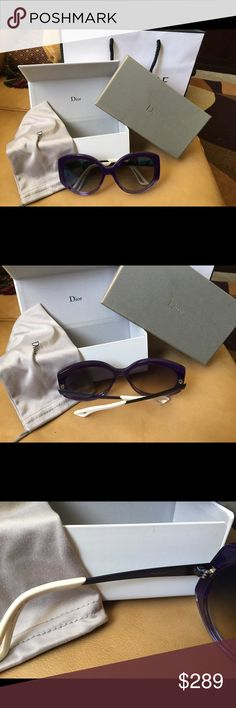 Brand new Dior sunglasses Mirrored  Brand new with tags  Violet  Over sized  Fun color Dior Accessories Sunglasses