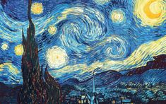 The Starry Night Counted Cross Stitch Pattern