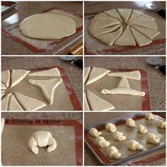 How to Shape Crescent Rolls