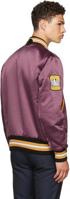 Coach 1941 - Purple Satin Varsity Jacket