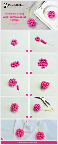 Beaded earrings 182606959876959631 - ideas on making Sweet Pink Wooden Bead Earrings Source by aletonb Bead Jewellery, Seed Bead Jewelry, Bead Earrings, Beaded Necklace, Jewelry Crafts, Handmade Jewelry, Handmade Bracelets, Motifs Perler, Seed Bead Bracelets