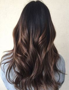 Subtle Balayage Hairstyles Ideas for Spring 2018 - Gerade Frisuren - Hair Brown Ombre Hair, Brown Hair Balayage, Ombre Hair Color, Hair Color Balayage, Balayage Dark Brown Hair, Balyage Hair, Haircolor, Blonde Balayage Highlights, Hair Color Highlights