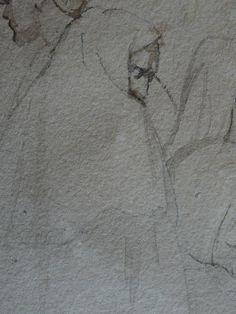 CHASSERIAU Théodore,1846 - Arabe barbu et autres Figures - drawing - Détail 29