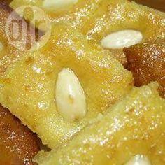 Arabischer Grießkuchen (Basbousa), ramadan, arabisch dessert, arabischer nachtisch @ de.allrecipes.com