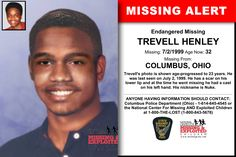 Missing From: COLUMBUS, OH. Missing Date: Jul 1999 AM. Trevell's photo is shown age-progressed to 23 years. He was last seen on July He has a scar on his lower lip and at the time he went missing he had a cast on his left hand. Missing Child, Missing Persons, Have You Seen, Did You Know, Amber Alert, Sad Pictures, Picture Sharing, Kids Poster, Looking For Someone
