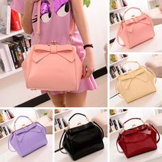 """Color:pink.black.red.green.purple. Size: Height:17cm/6.63"""". Width:20cm/7.80"""". Thick:12cm/4.68"""". Fabric material:PU. Tips: *Please double check above size and consider your measurements before ordering"""