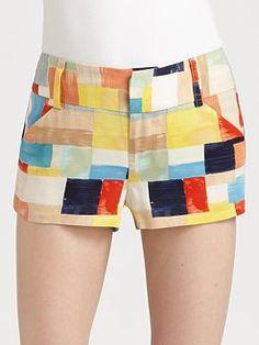 Shorts de Patchwork