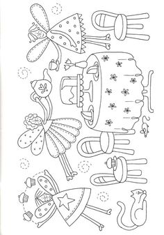 Fairy applique pattern