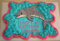 Dolphin cupcake pull-apart cake                              …