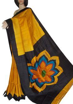 Acid hand paintings on Bishnupuri silk Ethnic Fashion, Womens Fashion, Fabric Painting, Indian Sarees, Weave, Hand Painted, Paintings, Art, Indian Saris