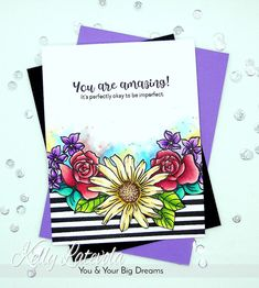 Kelly Latevola:  Video with tons of coloring tips; Altenew Amazing You and Smile More Stamp Sets; Jan. 2017 Blog Hop
