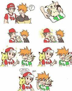 Red & Green & Pikachu & Mimikyu