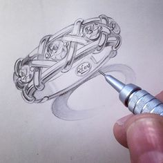"""Join me live this evening (10pm-12am EST) on #jewelrytelevision or www.jtv.com #remyforbellaluce #diamondsimulant #rhodiumplated #sterlingsilver """"Woven Band"""" RRB209 #jewelryartist #jewelrydesign #jewelryrendering -#jewelryillustration"""